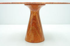 Fantastic Circular Red Brown Marble Dining Table Italy 1970 - 1701851
