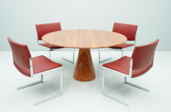 Fantastic Circular Red Brown Marble Dining Table Italy 1970 - 1701852