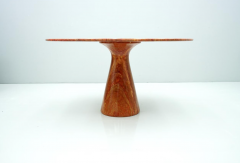 Fantastic Circular Red Brown Marble Dining Table Italy 1970 - 1701855