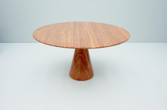 Fantastic Circular Red Brown Marble Dining Table Italy 1970 - 1701858