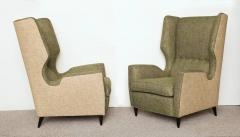 Fantastic Pair of High Back Wing Chairs - 1768148