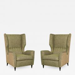 Fantastic Pair of High Back Wing Chairs - 1769188