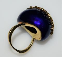 Fantastic Surreal Eye Ring Enamel 18k Diamonds - 1697206