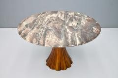 Fantastic Tulip Marble Dining Table Cast Metal Italy 1960s - 1154608
