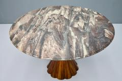Fantastic Tulip Marble Dining Table Cast Metal Italy 1960s - 1154610