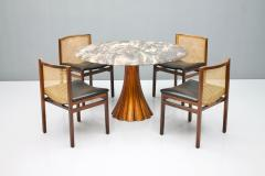Fantastic Tulip Marble Dining Table Cast Metal Italy 1960s - 1154612