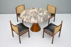 Fantastic Tulip Marble Dining Table Cast Metal Italy 1960s - 1154613