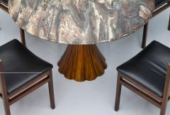 Fantastic Tulip Marble Dining Table Cast Metal Italy 1960s - 1154614