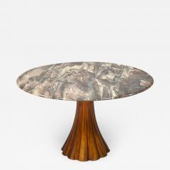 Fantastic Tulip Marble Dining Table Cast Metal Italy 1960s - 1155657