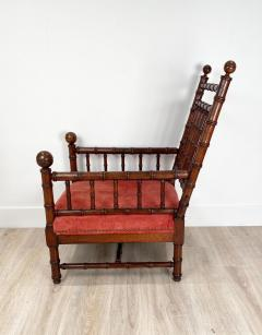 Faux Bamboo Library Chair Circa 1870 - 1571007