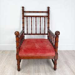 Faux Bamboo Library Chair Circa 1870 - 1571008