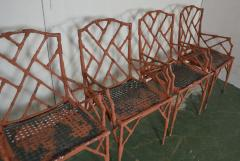 Faux Bamboo Metal Arm Chairs - 1132831