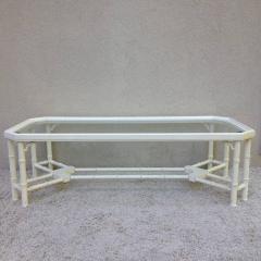 Faux Bamboo White Maison Jansen Style Coffee Table - 95308