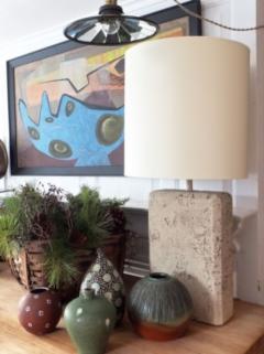 Faux Stone Lamp - 1649471
