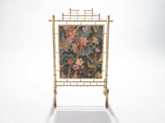 Faux bamboo decorative fire screen 1970 s - 989287