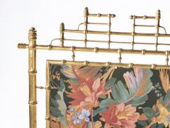 Faux bamboo decorative fire screen 1970 s - 989290