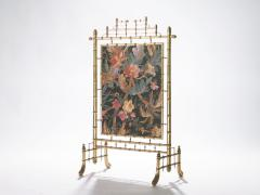 Faux bamboo decorative fire screen 1970 s - 989291