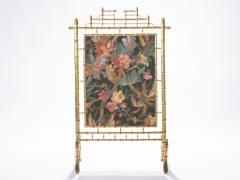 Faux bamboo decorative fire screen 1970 s - 989292