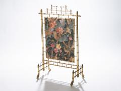 Faux bamboo decorative fire screen 1970 s - 989293