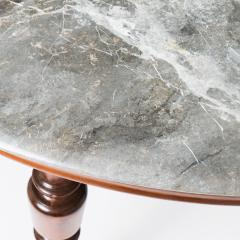 Faux marble painted oval top campaign table - 1725736
