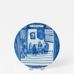 February Dutch Delft Calendar Plate - 459475