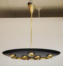 Fedele Papagni Contemporary Black Saucer Pendant by Fedele Papagni - 1008461