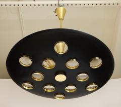 Fedele Papagni Contemporary Black Saucer Pendant by Fedele Papagni - 1008463