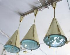 Fedele Papagni Limited Edition Brass and Glass Pendants by Papagni for Gaspare Asaro - 146728