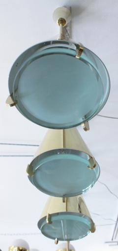 Fedele Papagni Limited Edition Brass and Glass Pendants by Papagni for Gaspare Asaro - 146729