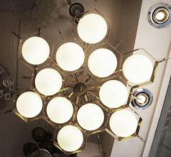Fedele Papagni Limited Edition Flush Mount Chandelier by Fedele Papagni for Gaspare Asaro - 53545