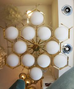 Fedele Papagni Limited Edition Flush Mount Chandelier by Fedele Papagni for Gaspare Asaro - 53546