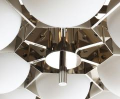 Fedele Papagni Nickel Flush Mount Fixture by Fedele Papagni for Gaspare Asaro Italy 2014 - 190267