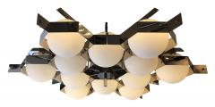 Fedele Papagni Nickel Flush Mount Fixture by Fedele Papagni for Gaspare Asaro Italy 2014 - 190272