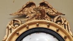 Federal Carved and Gilt Girandole Convex Mirror - 753758