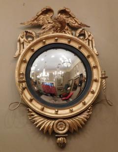 Federal Carved and Gilt Girandole Convex Mirror - 753760