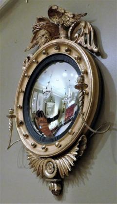 Federal Carved and Gilt Girandole Convex Mirror - 753762