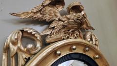 Federal Carved and Gilt Girandole Convex Mirror - 753763