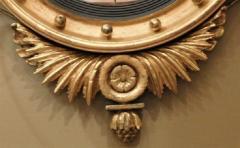 Federal Carved and Gilt Girandole Convex Mirror - 753765
