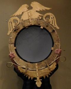 Federal Carved and Gilt Girandole Convex Mirror - 753766