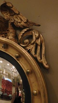 Federal Carved and Gilt Girandole Convex Mirror - 753767