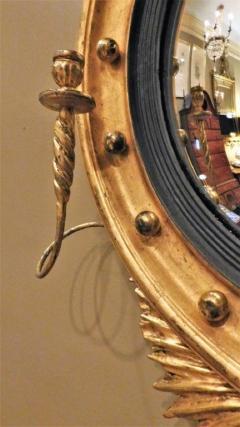 Federal Carved and Gilt Girandole Convex Mirror - 753768