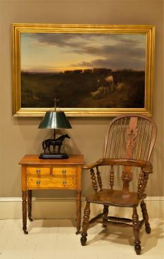 Federal Cherry and Tiger Maple Stand New York State Circa 1815 - 1686006