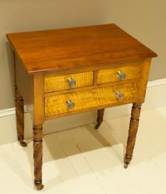 Federal Cherry and Tiger Maple Stand New York State Circa 1815 - 1686007