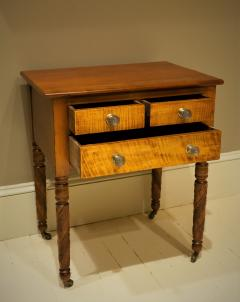 Federal Cherry and Tiger Maple Stand New York State Circa 1815 - 1686008