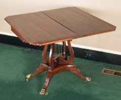 Federal Cross Lyre Card Table - 861657