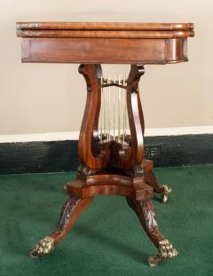 Federal Cross Lyre Card Table - 861664