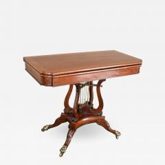 Federal Cross Lyre Card Table - 862351