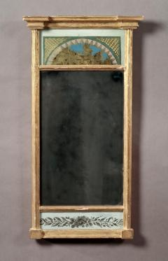 Federal Double Eglomise Looking Glass - 391038