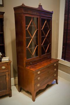 Federal Hepplewhite Secretary Bookcase Circa 1800 Mid Atlantic - 1687464