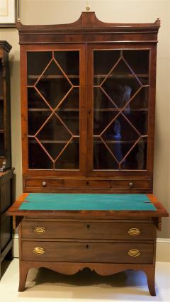 Federal Hepplewhite Secretary Bookcase Circa 1800 Mid Atlantic - 1687465